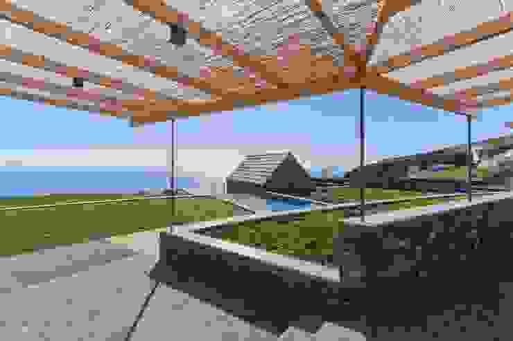 Turismo rural Casas da Vereda Jardins rústicos por Mayer & Selders Arquitectura Rústico