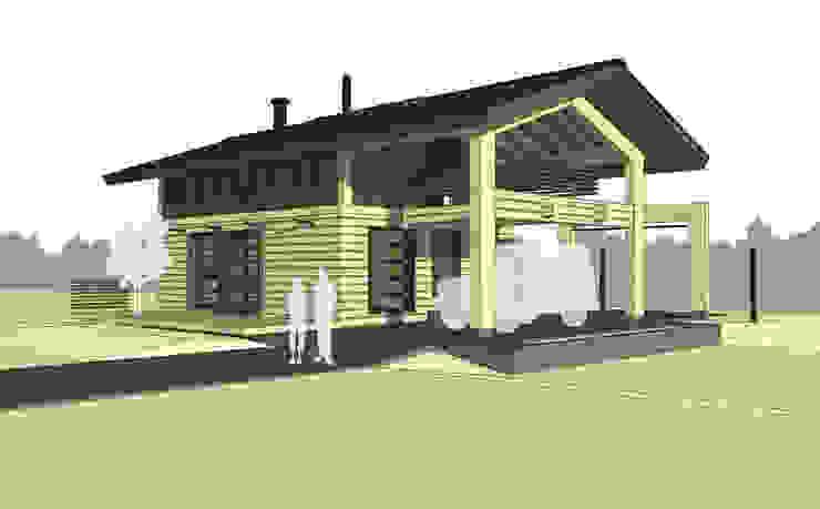 вид дома Дома в скандинавском стиле от artemuma - архитектурное бюро Скандинавский