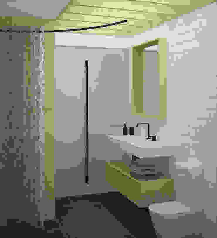 санузел Ванная комната в скандинавском стиле от artemuma - архитектурное бюро Скандинавский