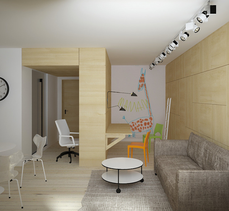 зона детской Детская комнатa в скандинавском стиле от artemuma - архитектурное бюро Скандинавский