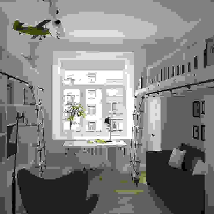 детская Детская комнатa в скандинавском стиле от artemuma - архитектурное бюро Скандинавский