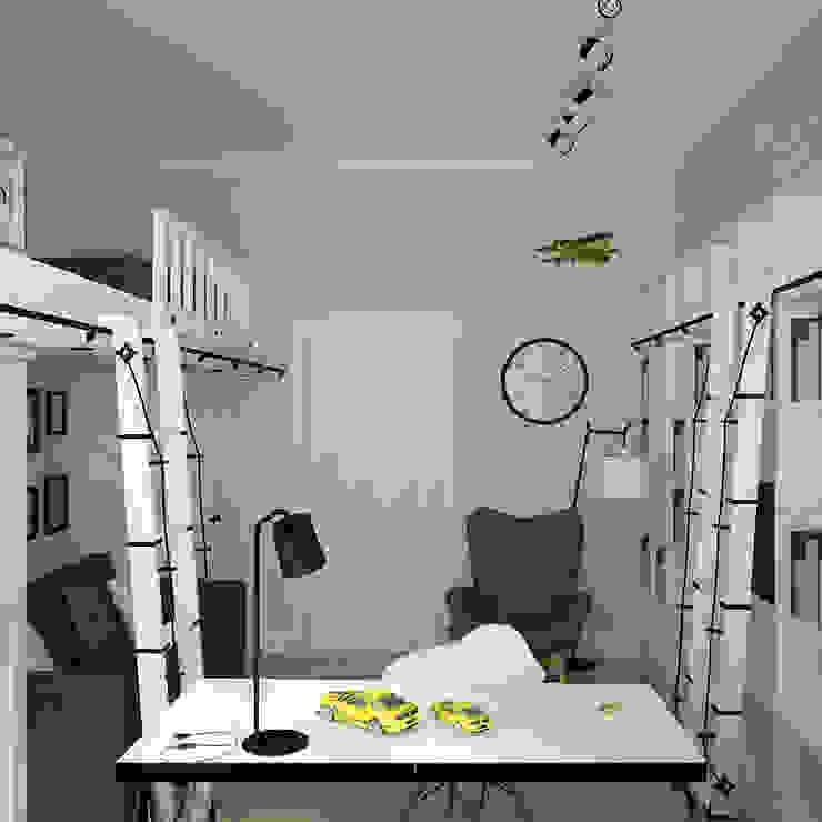 рабочая зона Рабочий кабинет в скандинавском стиле от artemuma - архитектурное бюро Скандинавский