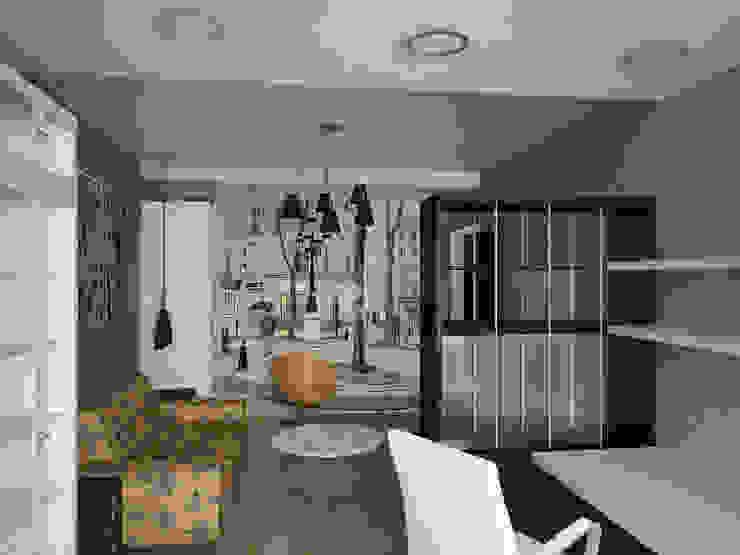гостиная Гостиная в стиле минимализм от artemuma - архитектурное бюро Минимализм