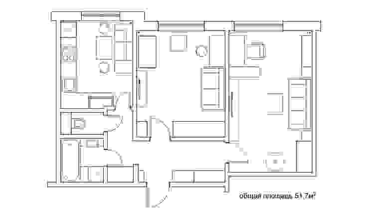 планировка:  в современный. Автор – artemuma - архитектурное бюро, Модерн