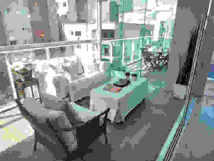 Varanda/Bar Varandas, alpendres e terraços rústicos por Gabriela Herde Arquitetura & Design Rústico