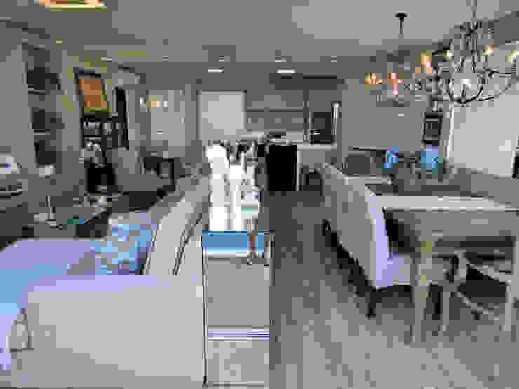 Rustic style dining room by Gabriela Herde Arquitetura & Design Rustic