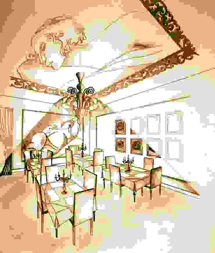 Sala pranzo Ristorante di Interior Design Stefano Bergami