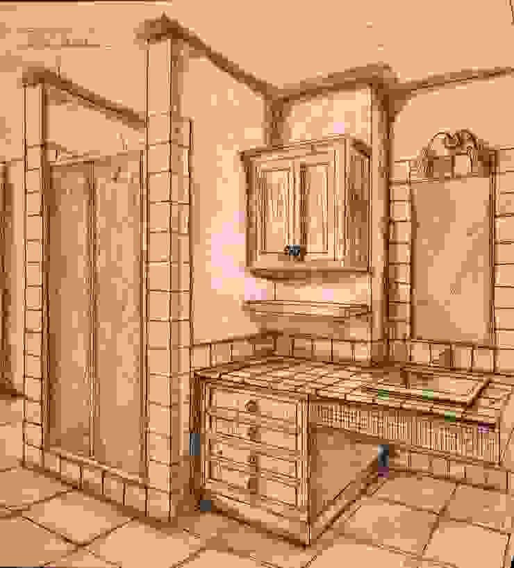 Bagno di Interior Design Stefano Bergami