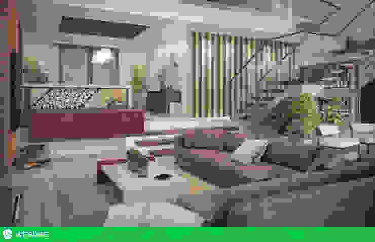 Living Salas de estar rústicas por studio vtx Rústico