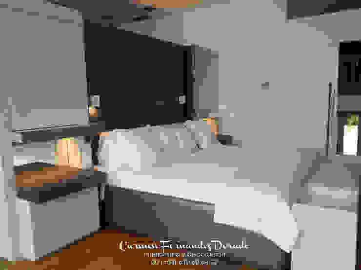 DIseño exclusivo para suite Dormitorios de estilo minimalista de Carmen Fernandez Interiorismo y Eventos Minimalista