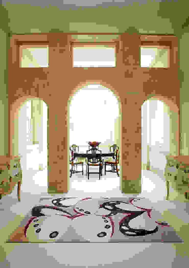 Deirdre Dyson BORBOLETA hand knotted wool and silk rug Deirdre Dyson Carpets Ltd Classic style dining room