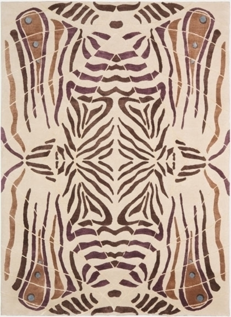 Deirdre Dyson LEPKE hand knotted wool and silk rug Deirdre Dyson Carpets Ltd Walls & flooringCarpets & rugs