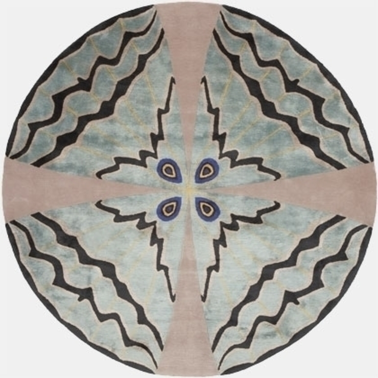 Deirdre Dyson PSYCHE hand knotted wool and silk rug Deirdre Dyson Carpets Ltd Walls & flooringCarpets & rugs