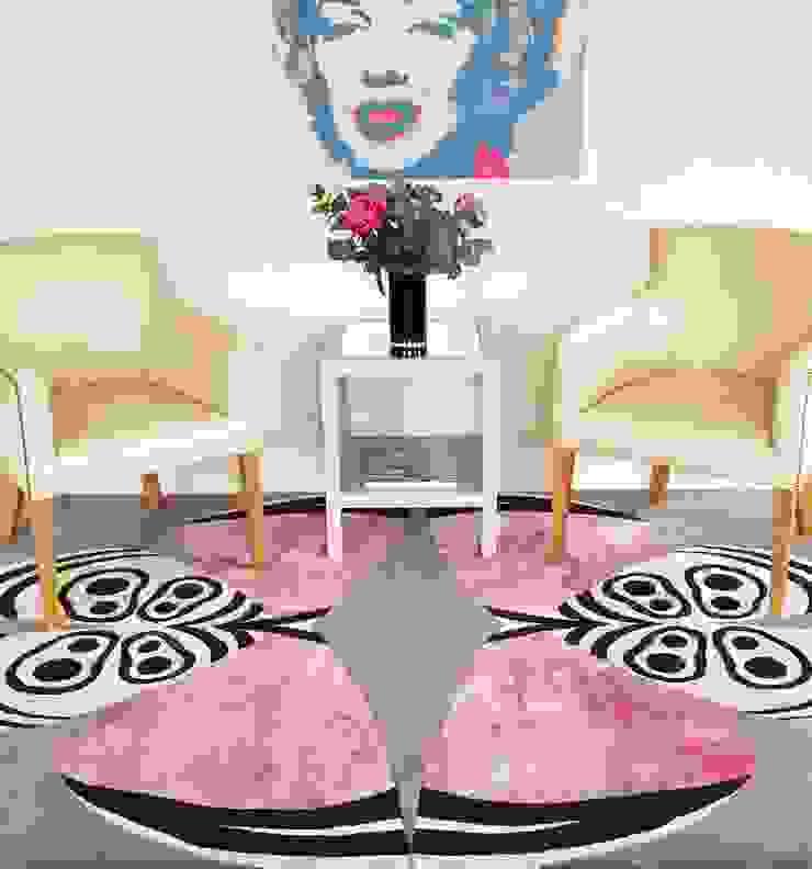Deirdre Dyson PALOMA hand knotted wool and silk rug Deirdre Dyson Carpets Ltd Modern living room