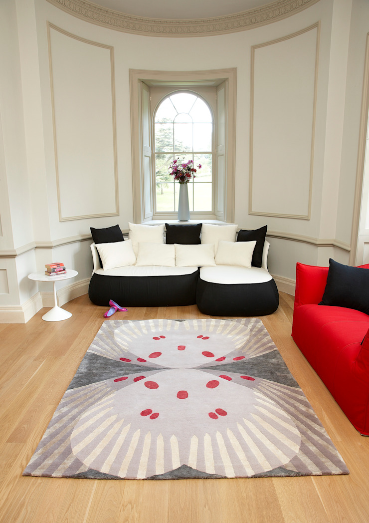 Deirdre Dyson FARFALLA hand knotted wool and silk rug Deirdre Dyson Carpets Ltd Classic style living room