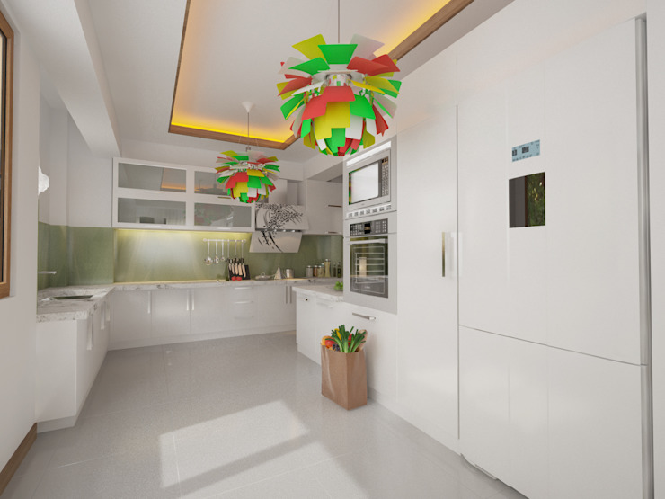 İNDEKSA Mimarlık İç Mimarlık İnşaat Taahüt Ltd.Şti. KitchenCabinets & shelves