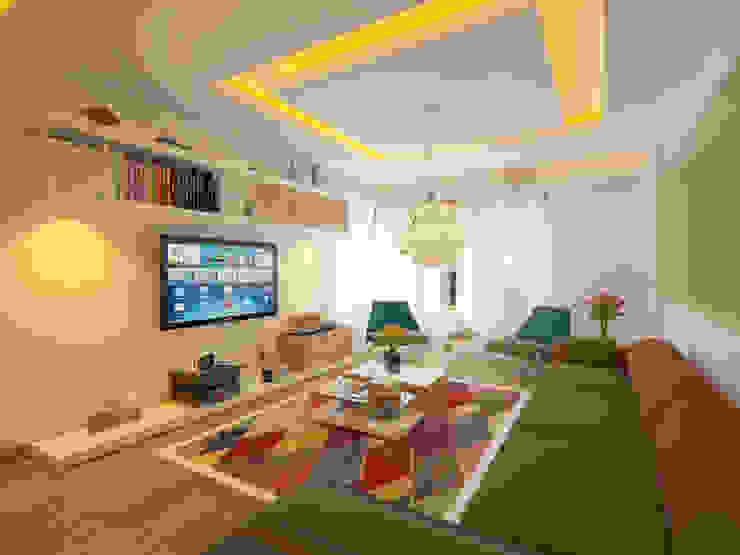 Salones de estilo  de İNDEKSA Mimarlık İç Mimarlık İnşaat Taahüt Ltd.Şti.,