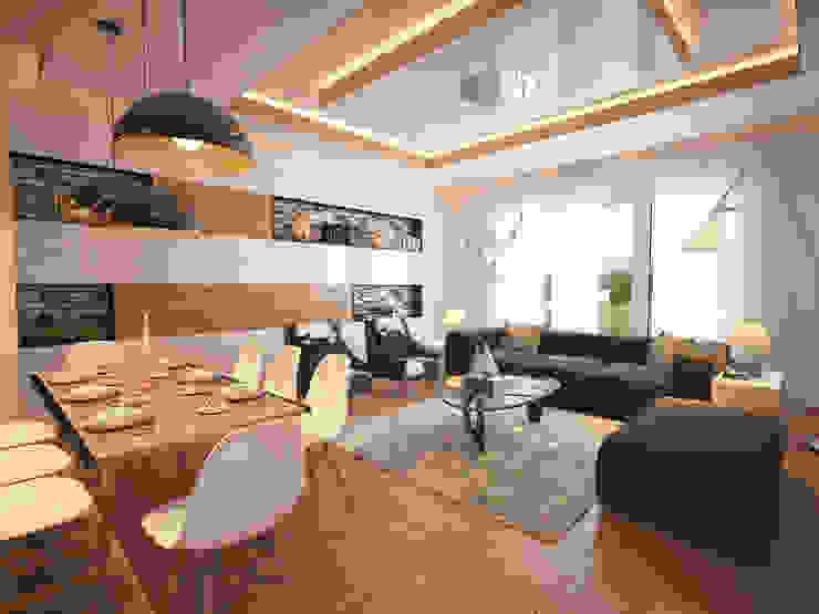 Ruang Keluarga Modern Oleh İNDEKSA Mimarlık İç Mimarlık İnşaat Taahüt Ltd.Şti. Modern
