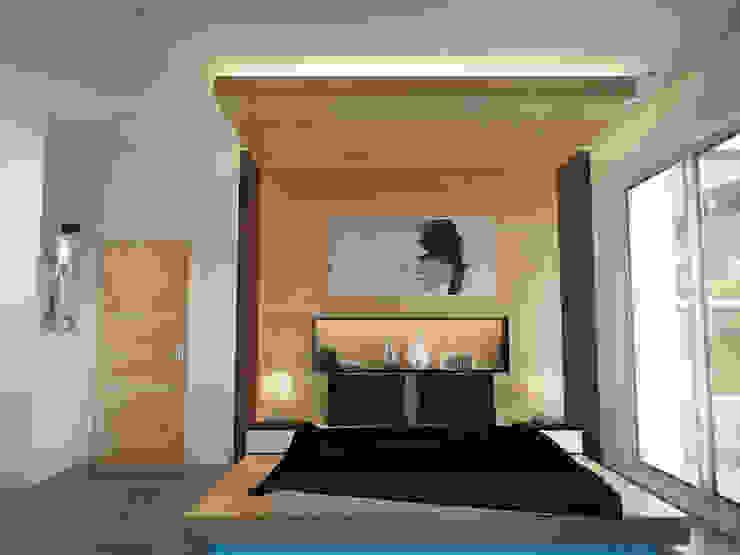 İNDEKSA ÖRNEK DAİRE ÇALIŞMASI Modern Yatak Odası İNDEKSA Mimarlık İç Mimarlık İnşaat Taahüt Ltd.Şti. Modern
