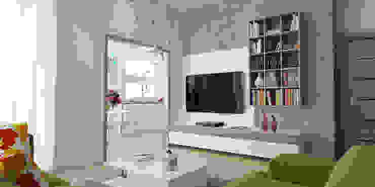 İNDEKSA ÖRNEK DAİRE ÇALIŞMASI Modern Oturma Odası İNDEKSA Mimarlık İç Mimarlık İnşaat Taahüt Ltd.Şti. Modern