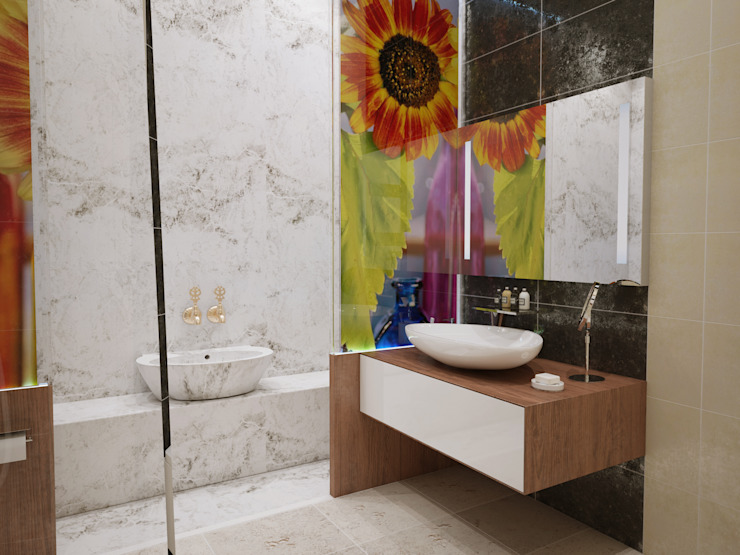 İNDEKSA Mimarlık İç Mimarlık İnşaat Taahüt Ltd.Şti. – İNDEKSA ÖRNEK DAİRE ÇALIŞMASI:  tarz Banyo,