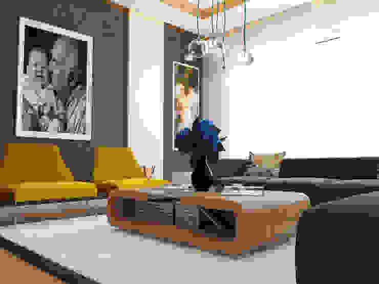 Modern Living Room by İNDEKSA Mimarlık İç Mimarlık İnşaat Taahüt Ltd.Şti. Modern