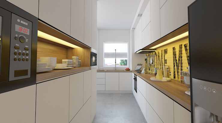 İNDEKSA ÖRNEK DAİRE ÇALIŞMASI Modern Mutfak İNDEKSA Mimarlık İç Mimarlık İnşaat Taahüt Ltd.Şti. Modern
