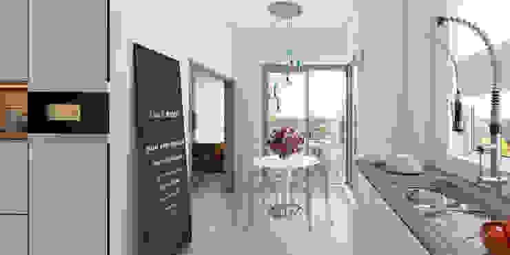 ห้องครัว โดย İNDEKSA Mimarlık İç Mimarlık İnşaat Taahüt Ltd.Şti., โมเดิร์น