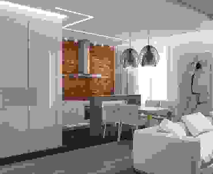 Лофт Гостиная в стиле лофт от E_interior Лофт