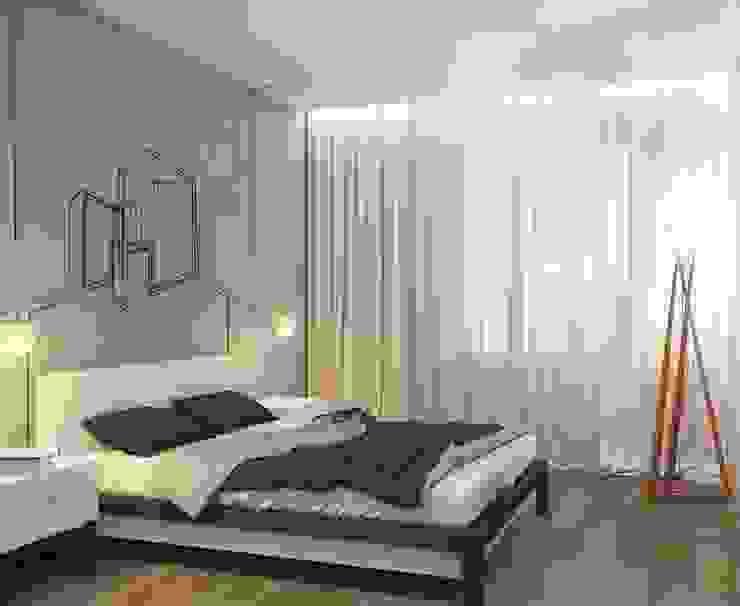 Лофт Спальня в стиле минимализм от E_interior Минимализм