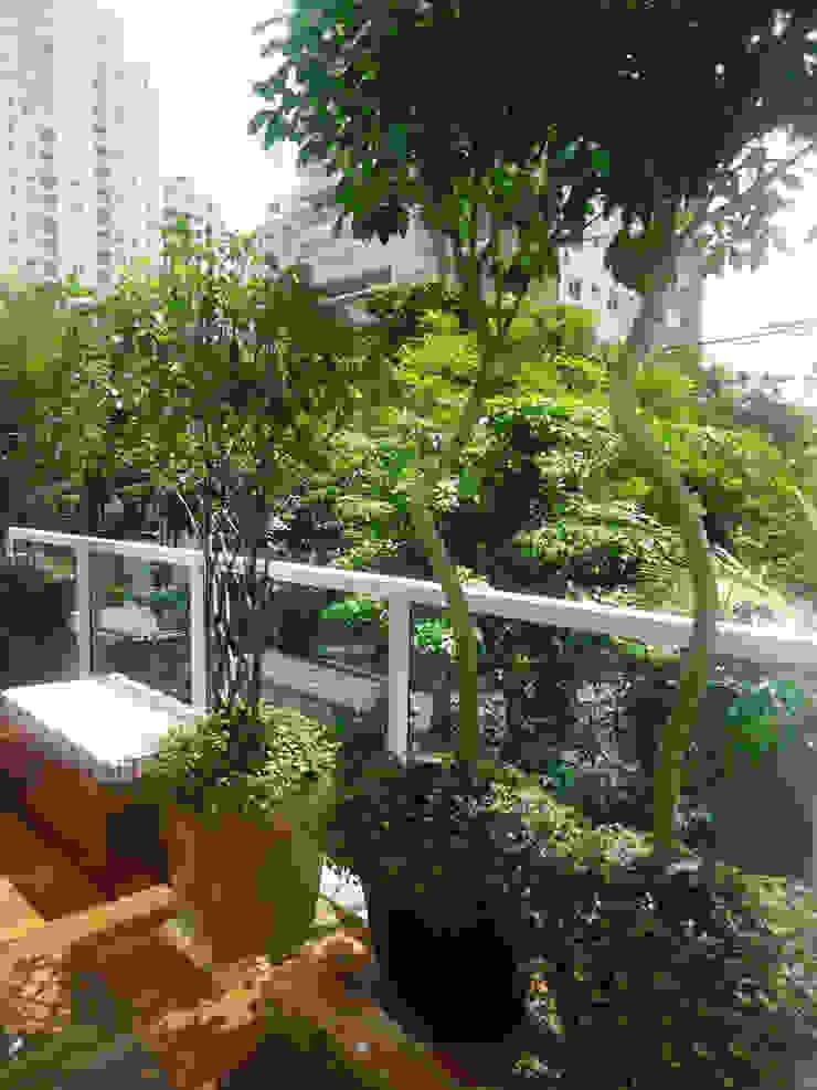 VARANDA VILA NOVA CONCEIÇÃO.SÃO PAULO.BRASIL Jardins modernos por Línea Paisagismo.Claudia Muñoz Moderno