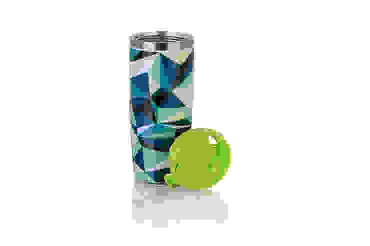Szczelny Kubek termiczny 350ml Klejnoty Zielone od Silly Design - prezentowa porcelana Skandynawski