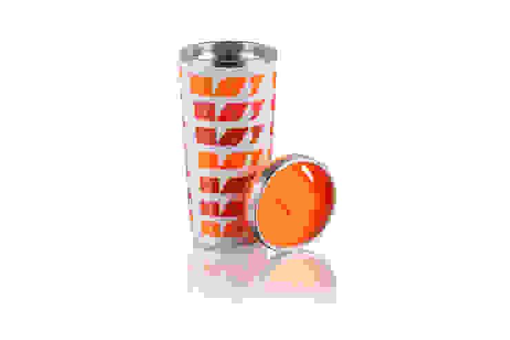 Kubek termiczny termos 400ml Czerwony Coffee od Silly Design - prezentowa porcelana Nowoczesny