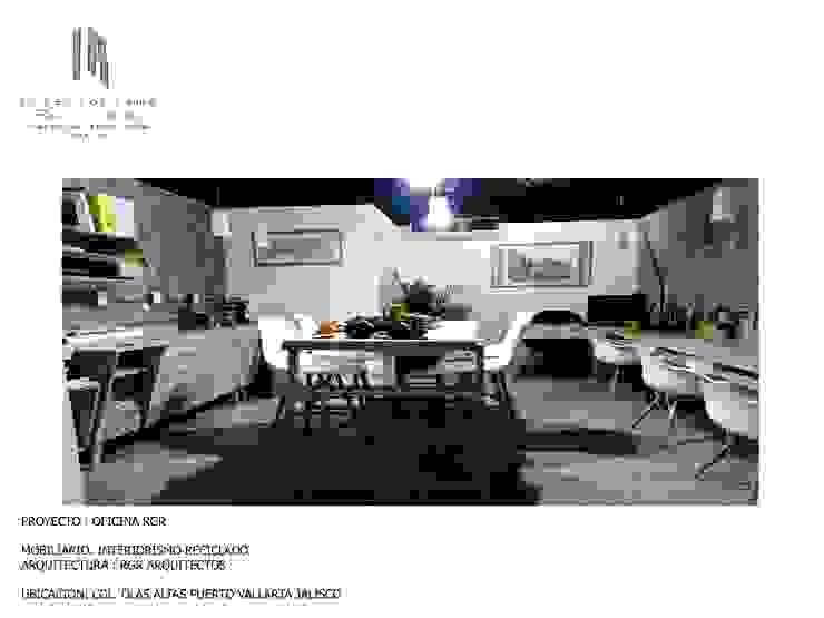 proyecto despacho RGR arquitectos:  de estilo tropical por INTERIORISMORECICLADO, Tropical