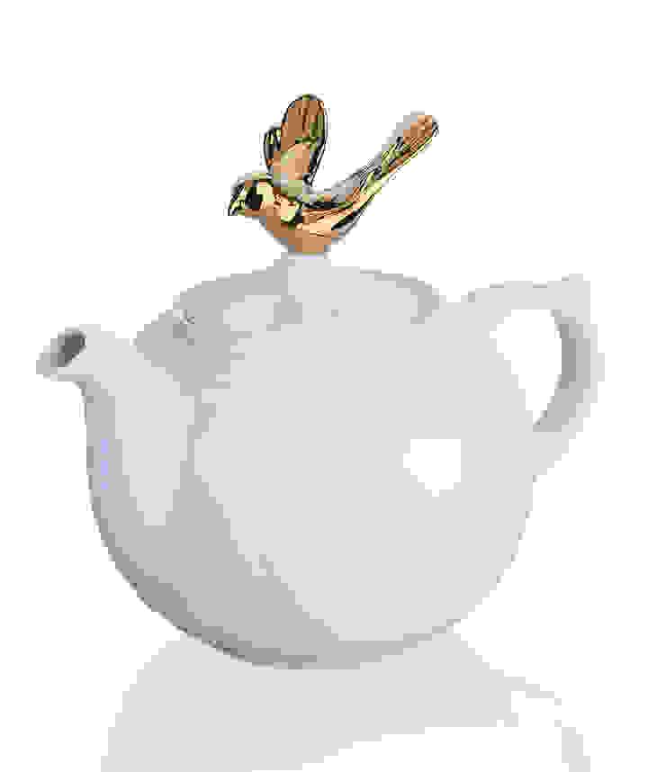 Czajnik do herbaty porcelana De Luxe Gold, 1000ml od Silly Design - prezentowa porcelana Klasyczny