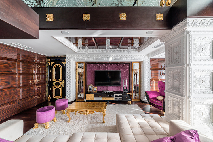 Eclectic style living room by Belimov-Gushchin Andrey Eclectic
