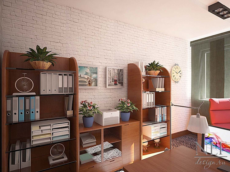 Colonial style study/office by Юлия Паршихина Colonial