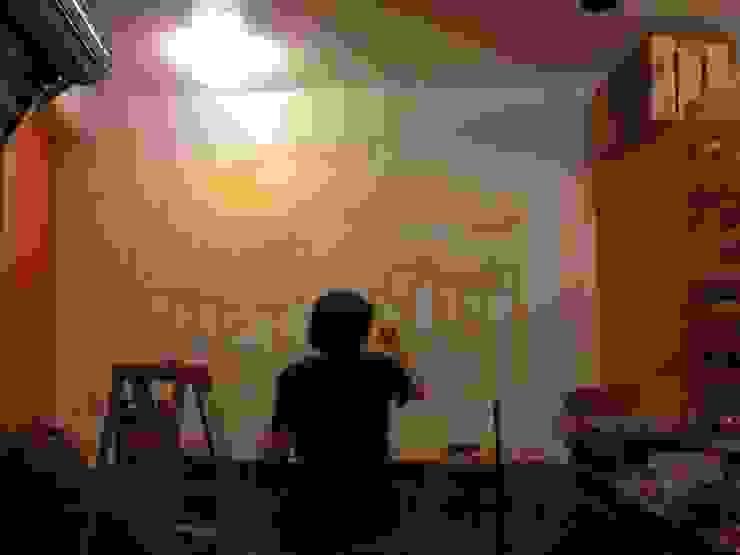proceso mural interior Gastronomía de estilo clásico de Armatoste studio Clásico