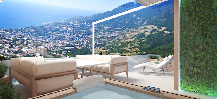 homify Minimalist balcony, veranda & terrace