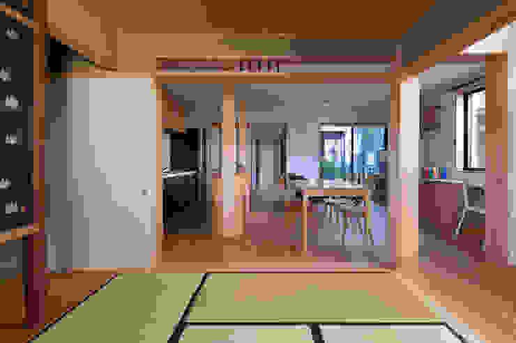 和室 モダンデザインの ダイニング の アトリエ・ブリコラージュ一級建築士事務所 モダン