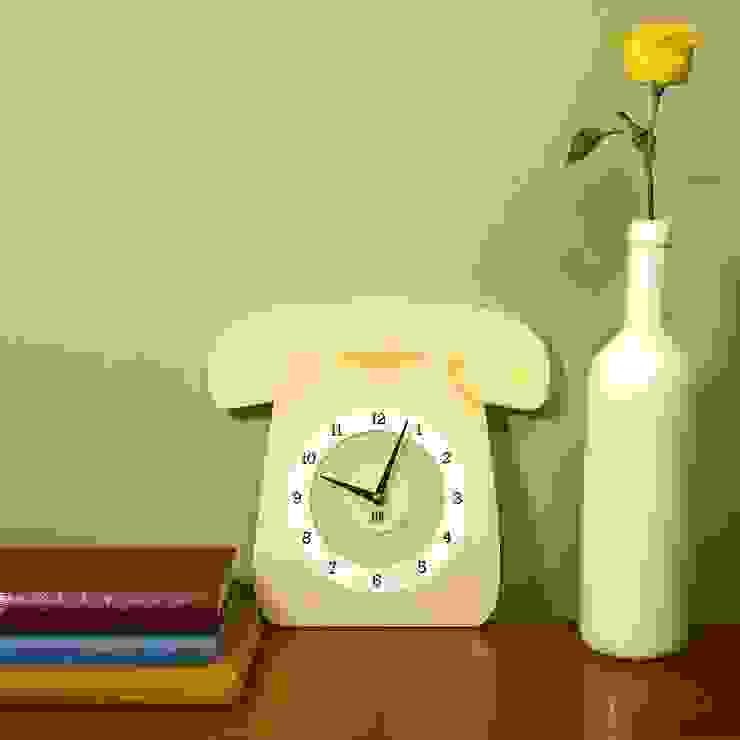 Cream Call Me Clock: classic  by Hi! TIME, Classic