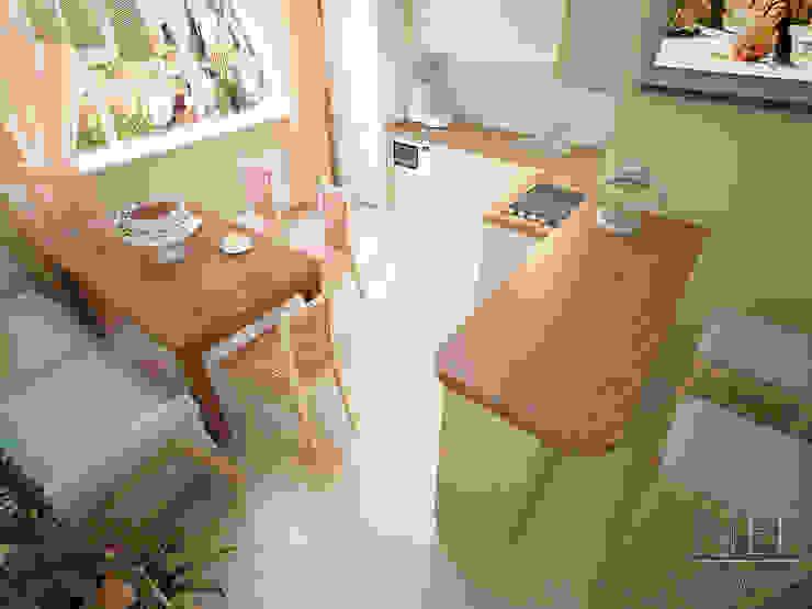 Квартира в современном стиле Кухня в скандинавском стиле от Юлия Паршихина Скандинавский