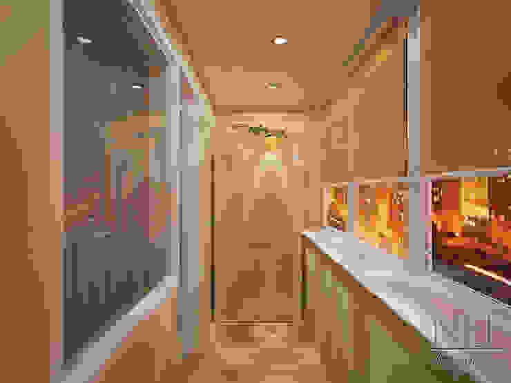 Квартира в современном стиле Балкон в скандинавском стиле от Юлия Паршихина Скандинавский