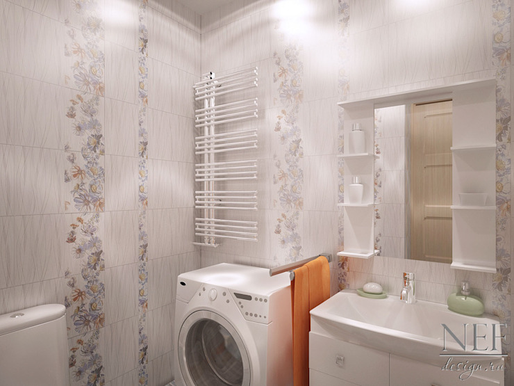 Квартира в современном стиле Ванная комната в скандинавском стиле от Юлия Паршихина Скандинавский