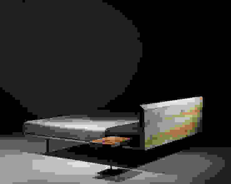 Łóżko MODO od mazzivo Nowoczesny Drewno O efekcie drewna