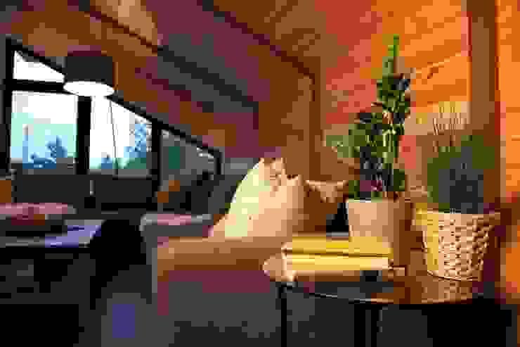 Элитный загородный котедж с мебелью мехо Гостиная в стиле лофт от MEXO Лофт