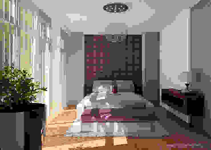 Nowoczesny apartament Nowoczesna sypialnia od Interium Projekt Nowoczesny