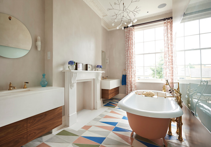 Drummond's Case Study: London Townhouse, Notting Hill von Drummonds Bathrooms Rustikal