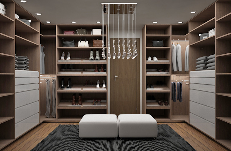 Modern style dressing rooms by Citlali Villarreal Interiorismo & Diseño Modern