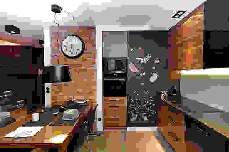farba tablicowa w kuchni Nowoczesna kuchnia od RED design Nowoczesny